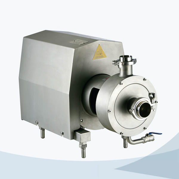 Sanitary pipeline high shear emulsifier